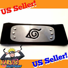 Naruto Shippuden BLACK Hidden Leaf Village Ninja Headband Cosplay Boruto Kakashi