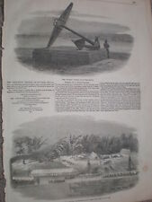 Recovery of guns wreck of HMS Medusa Irrawaddy Burma 1854 old print and article
