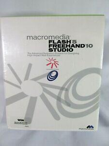 Macromedia Flash 5 Freehand 10 Studio for Windows New Factory Sealed