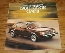 Original 1981 Dodge Omni Sales Brochure 81