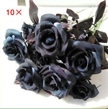 Foam Roses 10Pack Artificial Fake Flowers Wedding Bridal Quality Soft Halloween