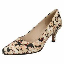Standard (D) Width 100% Leather Floral Heels for Women