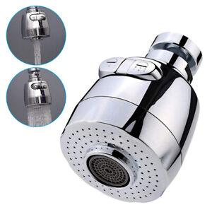 360° Swivel Aerator Water Bubbler Head Tap Kitchen Faucet Extender Diffuser AU
