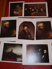 SEVEN HIGH QUALITY REMBRANT PRINTS/SELF PORTRAITS 14 X 10