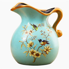 Creative Hand-Painted Ceramic Vase Flora Bird Art Vase Flower Pot Bottle Decor ♫