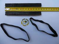 VEHICULE MILITAIRE SOLIDO POLISTIL  4 CHENILLES CAOUTCHOUC NOIR L 139 mm X 12mm