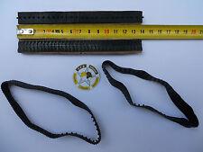 VEHICULE MILITAIRE SOLIDO POLISTIL LOT 4 CHENILLES CAOUTCHOUC NOIR L 13,9 mm
