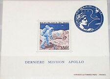 MALI 1973 Block 7 S/S C177 Apollo 17 Moon Mission Mond Space Weltraum MNH