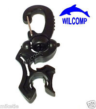 Scuba Diving Double Hose Holder with Clip WIL-HH-02Bk