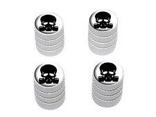 Zombie Outbreak Response Team - Skull Gas Mask Tire Rim Valve Stem Caps - White
