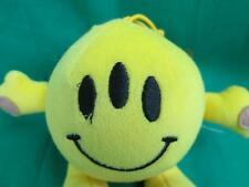 STRANGE ALIEN YELLOW BALL SMILEY FACE :) W/ 3 EYEBALLS  SUCTION CUP WINDOW PLUSH