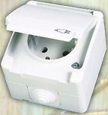 Steckdose für Feuchtraum Aussenbereich Schalter Taster