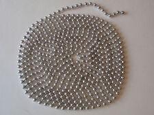 Shiny Silver Plastic Bead Christmas Tree Garland Strand Decoration 15 ft 8mm