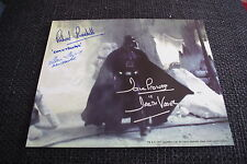 Dave Prowse Richard bonehill Alan Flyng SIGNED AUTOGRAFO Star Wars immagine inperson