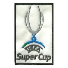 [Patch] UEFA - SUPERCUP sfondo bianco cm 5,5 x 9 toppa ricamo termoadesiva -419