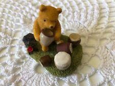 More details for baby bear eating honey resin ornament - disney- hill england