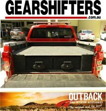 HOLDEN COLORADO RG DUAL CAB 8/2012 ON ,OUTBACK ROLLER DRAWERS 4X4 4X2 4WD DRAW