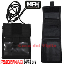 Porta foglio documenti tesserino Cargo Wallet da collo MFH Portadocumenti NERO