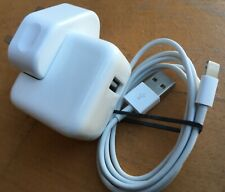 Genuine Apple 10W Mains Charger Official iPad iPhone iPod + USB Cable 5.1v 2.1A