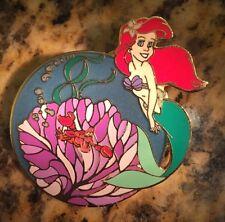 Disney Pin Ariel The Little Mermaid Le 100 Japan Mall Under The Sea Flower Rare