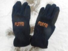 original PUFFA womans ladies FLEECE WINTER GLOVES SIZE S SMALL navy blue ski