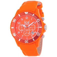 Ice-Watch Unisex CH.FO.B.L.11 Ice-Chrono Matte Big 48  Fluo Orange Leather Watch