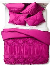 Boho Boutique Texture 3pc  Duvet Cover Set ~ FULL  QUEEN  ~ FUCHSIA  BRAND NEW