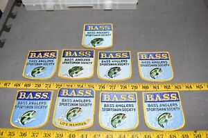 9 Vintage B.A.S.S. Fishing Patches