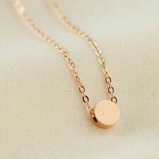 18K White Gold Filled Women's 5mm Cute Round Pendant Charm Necklace Chain Gift