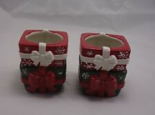 Yankee Candle Tealight~Votive Holder Stacked Wrapped Presents