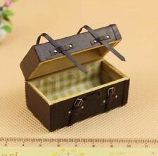 Dollhouse Miniature 1:12 Scale Vintage PU Leather Trunk Fairy Home Furniture S