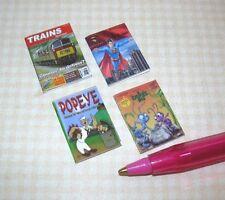 Miniature Colorful Children's Books (4) Set #12: Dollhouse Miniatures 1/12 Scale