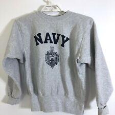Navy Midshipmen Vintage Sweatshirt Naval Academy Gray Mens XS
