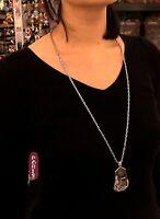 Collar Largo Collar Colgante Conchas Gota Irregular Plateado Barroco DDZ1