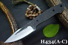 Custom Hammered 1095 Carbon Steel Blank Hunting Knife Handmade,No Damascus(H434B