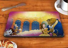 Beauty and the beast ballroom disney glass chopping cutting board food kitchen