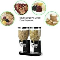 DOUBLE CEREAL DISPENSER,STORAGE CONTAINER MACHINE FOR DRY FOOD