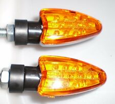 ►2X NEU  LED KAWASAKI EN500 C1,KLX450R,Z 750 LTD Twin SPEAR GELB MINI BLINKER