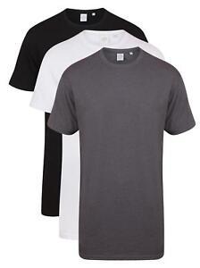 Mens Mans BLACK GREY or WHITE Extra Long Length Cotton Tee T-Shirt