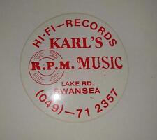 Retro Sticker - Karl's R.P.M. Music Hi-Fi Records Swansea NSW
