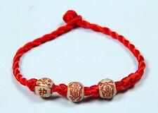 3PC Amulet Hand Braided Red Lucky String Bracelet exorcise evil spirits protect