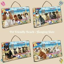 Pet Friendly Beach Hanging Slate, Dogs, Cats, Pet Photo Lovers Gift Wall art