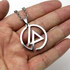 US Ship Linkin Park Necklace Stainless Steel Pendant Merch Logo Symbol