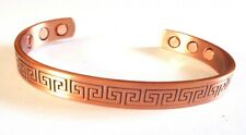 MAGNETIC THERAPY COPPER BANGLE/BRACELET -HI QUALITY UNISEX 'AZTEC' DESIGN -MGB25