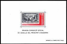 Andorra, French Administration Scott #298 VF MNH 1982 Exhibition Souvenir Sheet