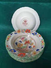 Vintage Masons Ironstone Bible Pattern Cereal Bowls x6