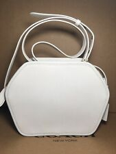 NWT Coach 141 Zip Geometric Pouch in Chalk Glovetanned Leather