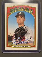 2021 Topps Heritage Real One Autographs Ian Anderson RC Rookie BRAVES AUTO