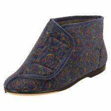 Zapatillas botas de andar por casa de color principal azul por casa de mujer