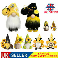 World Bee Day Gnome Nordic Gonk Tomte Sunflower Swedish Plush Doll Ornaments✅